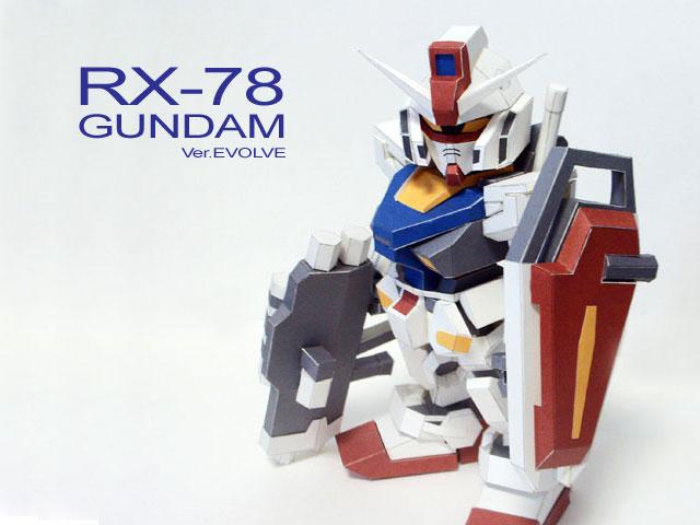 PaperModel RX-78 SD Ver. Evolve