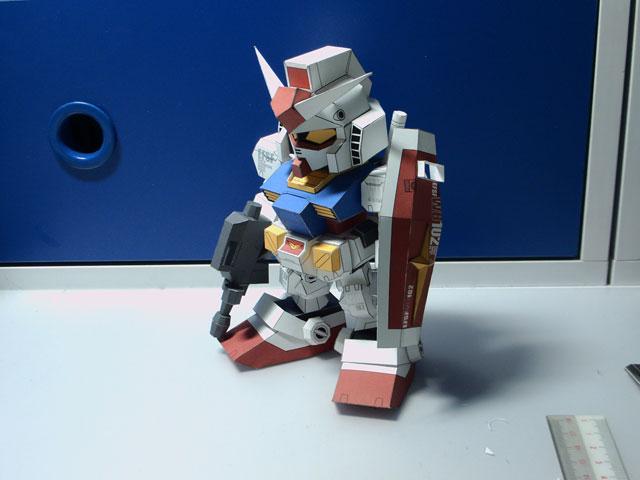 PaperModel SD Gundam Rx-78